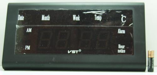 Часы-буд. электронные VST-795W-5 (син. циф.)