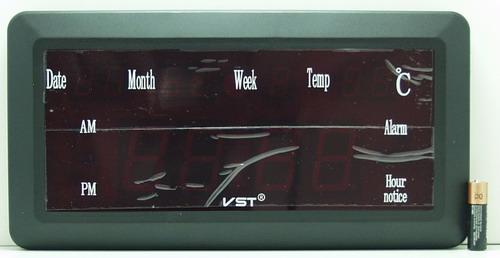 Часы-буд. электронные VST-780W-4 (ярко-зел. циф.)