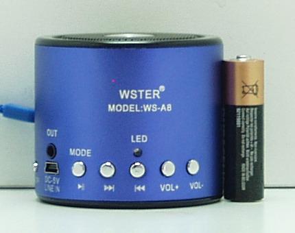 Колонки MP3 с FM-прием.,USB, SD NGY-A8 мал. с экр.