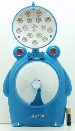 Вентилятор + фонарь (16 ярк.) USB/4AA №9798