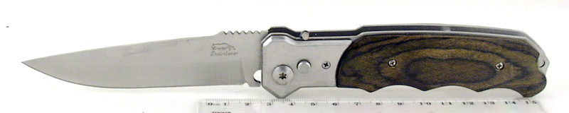 Нож 863A (A863A) выкид. дер. ручка