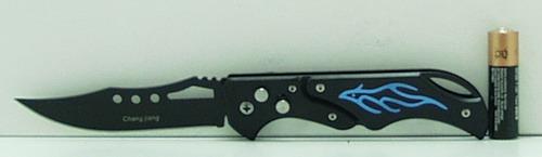 Нож 821 выкид. черн. ручка