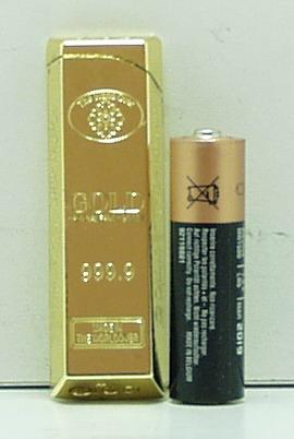 Зажигалка  M0081 (золотой слиток) мал.