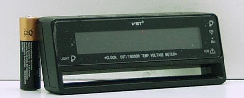 Часы автомобильные №7010V VST с улич. датчик темп.