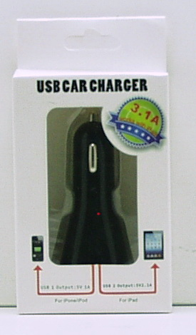 Блок питания для MP3 (2 USB,без шн.) 5V 3100mA прикур. №3111