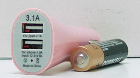 Блок питания для MP3 (2 USB,без шн.) 5V 3100mA прикур. №3111A