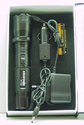 Электрошокер с фонариком  (1ярк.+ авто ЗУ+ аккум.) H-1102 (102)