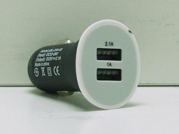 Блок питания для MP3 (2 USB,без шн.) 5V 2,1/1A прикур. №008 (129)