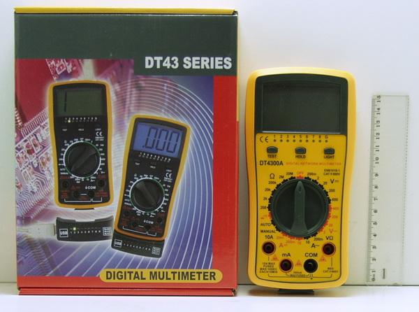 Цифровой Мультиметр DT-4300 прозвон. UTP,USB