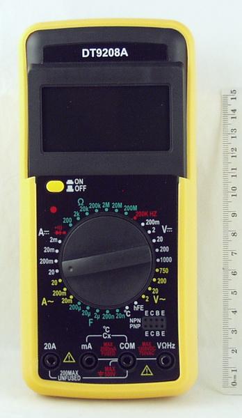 Цифровой Мультиметр DT-9208 II темп, част, с описан