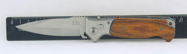 Нож 517 (A517A) выкид. дерев. ручка
