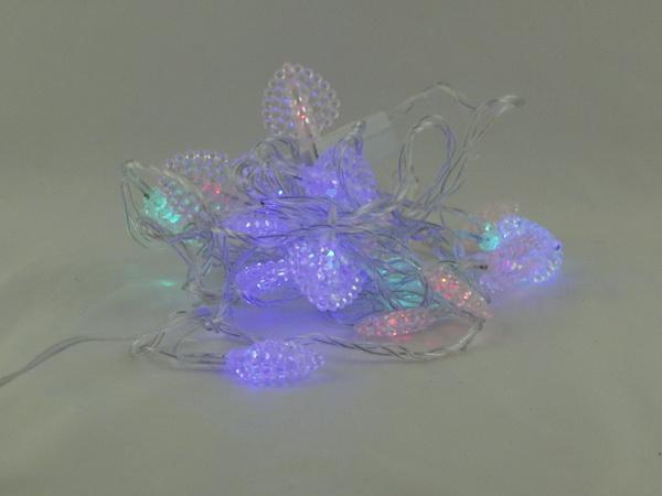 Гирлянда 20 ламп двухцветн. (листики) №1008