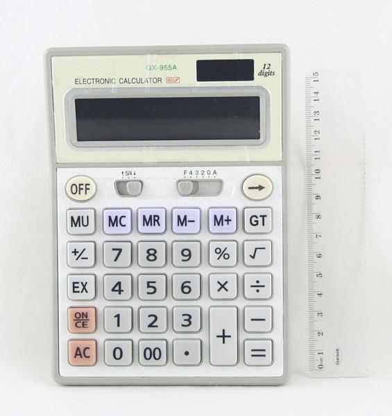 Калькулятор 955 (GX-955A) 12 разр. сред.