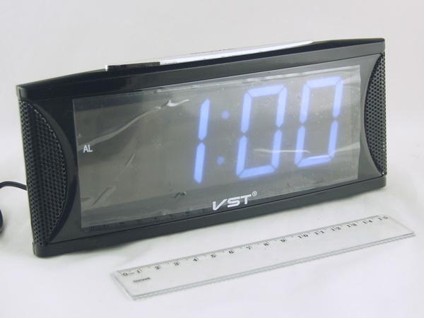 Часы-буд. электронные VST-719-6 (бел. циф.)