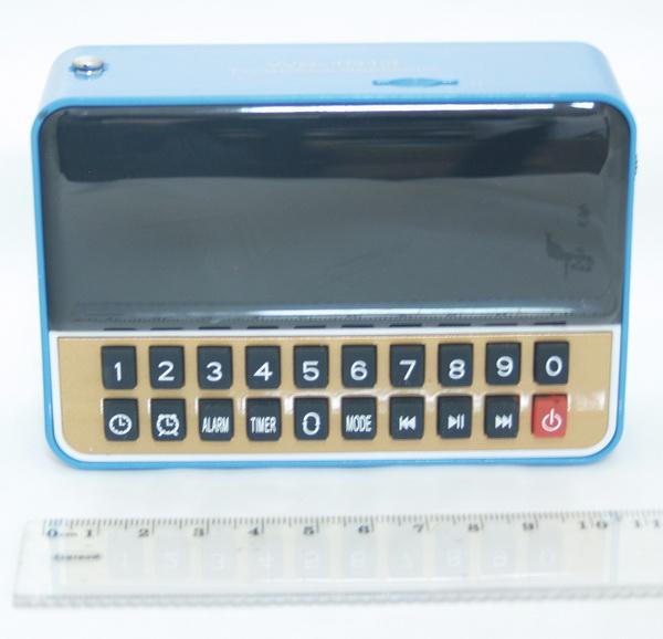 Колонки MP3 с FM-прием., USB, SD WS-1513 с часами