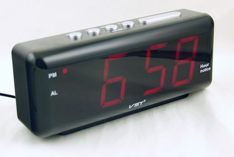 Часы-буд. электронные VST-762T-1 (крас. циф.) говорящ.