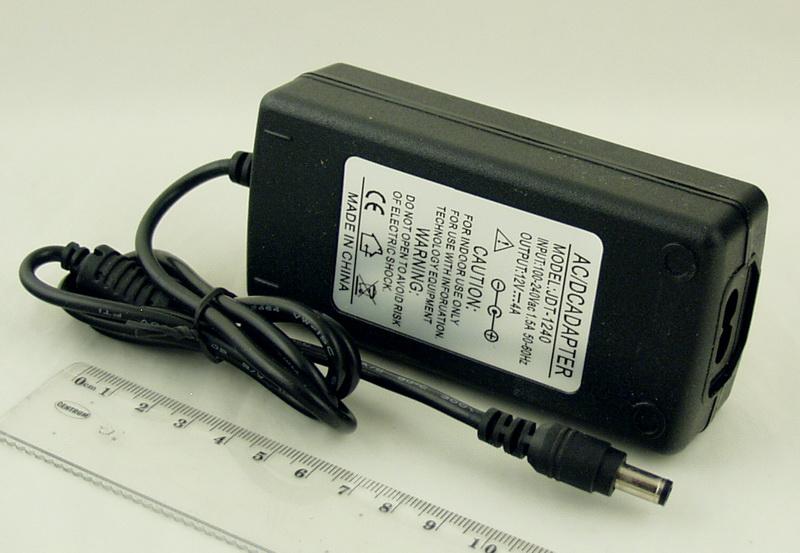 Блок питания для в/кам., DVD (4A 12V) №12-401 толст. шт. (5,5*2,5)