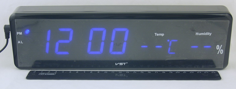 Часы-буд. электронные VST-805S-5 (синие циф.)