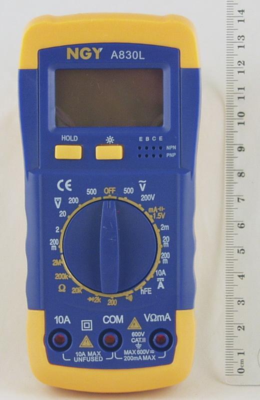 Цифровой Мультиметр A-830 L (в калоше, с оп.)