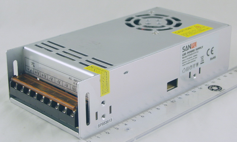 Блок питания для в/кам. (33A 12V) CD-400W SANPU 9 выход., ветилят.