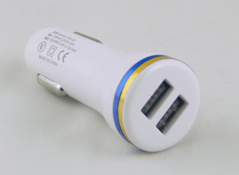 Блок питания для MP3 (2 USB,без шн.) 5V 2,1/1A прикур. KO-09