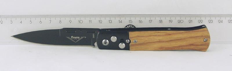 Нож 801 (D-801) выкид. черн. ручка