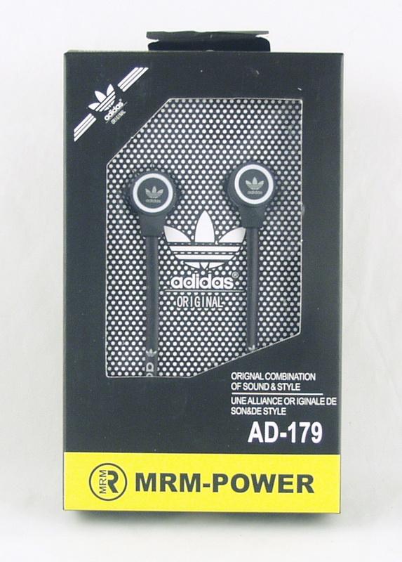 Наушники  с микроф. ADIDAS/NIKE №179 вакуум. в короб.