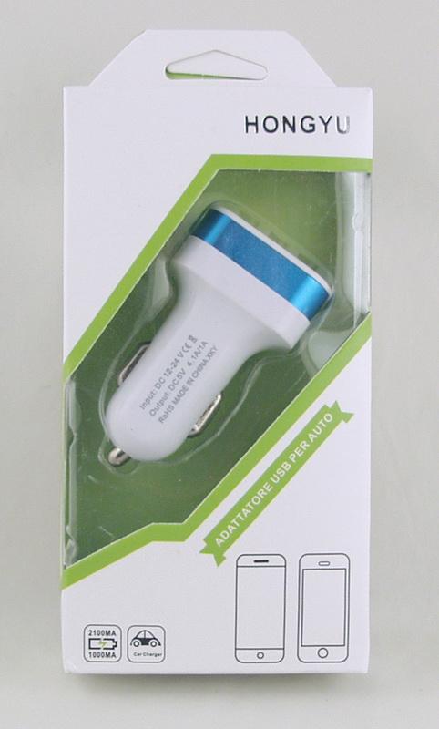 Блок питания для MP3 (3 USB,без шн.) 5V 2,1+1A+1A прикур. HY-568