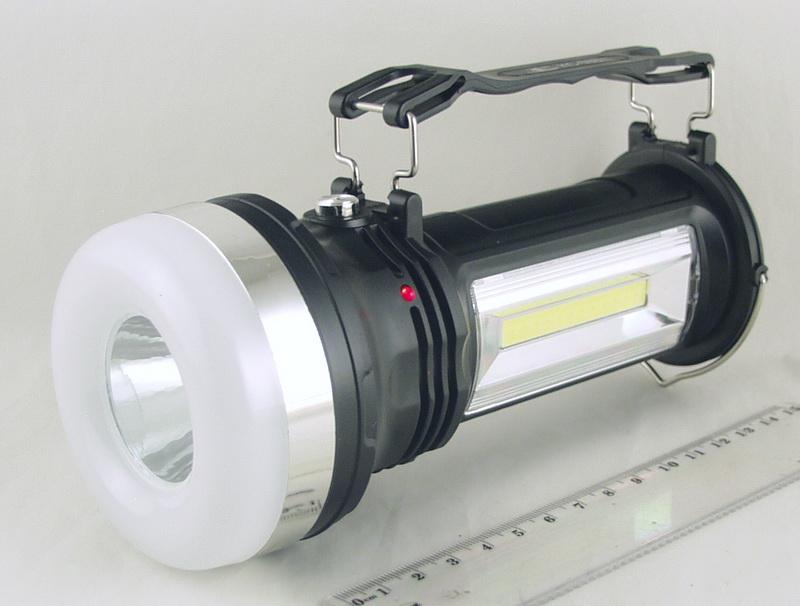 Фонарь светодиодный (1больш.+ 1больш.+1ярк. аккум.) KC-668 солнеч. бат.