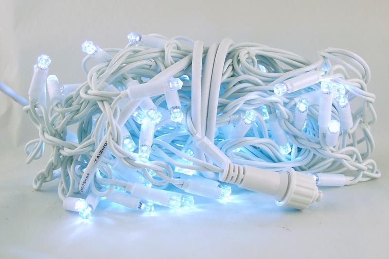 Гирлянда 100 светодиод. (шторки) белые (белый шнур) уличн.