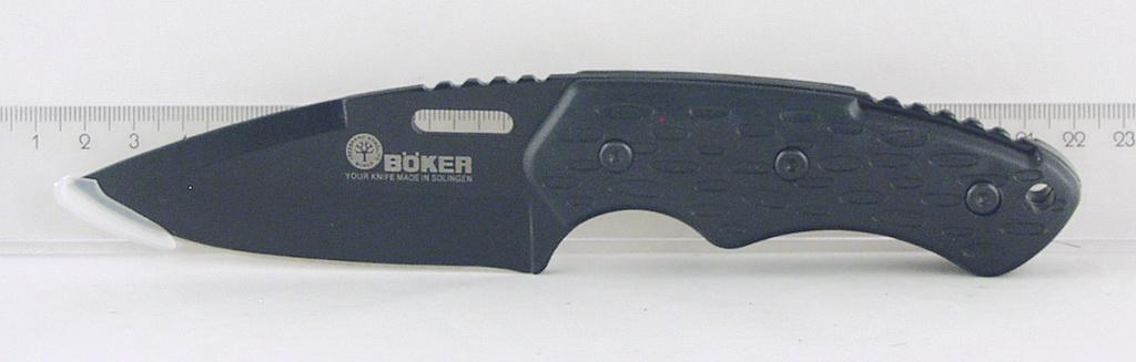 Нож 540 (D540) в чехле, черн. ручка (охотнич.) BOKER