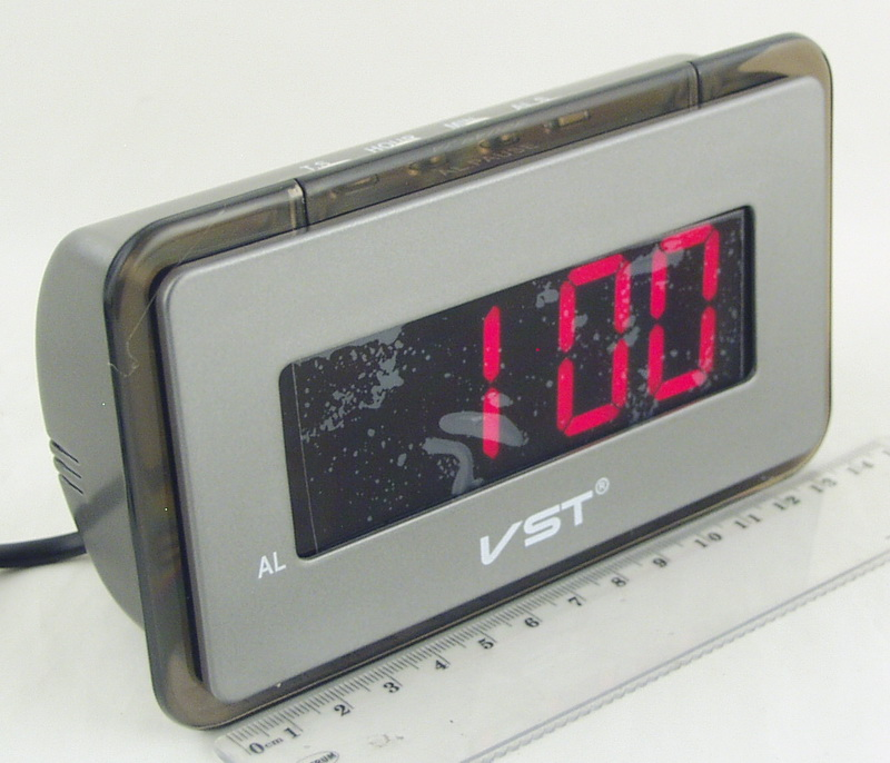 Часы-буд. электронные VST-728-1 (крас. циф.)