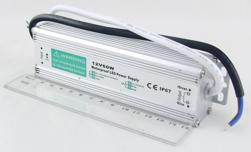 Блок питания для в/кам. (5A 12V) 60W водонепрониц.