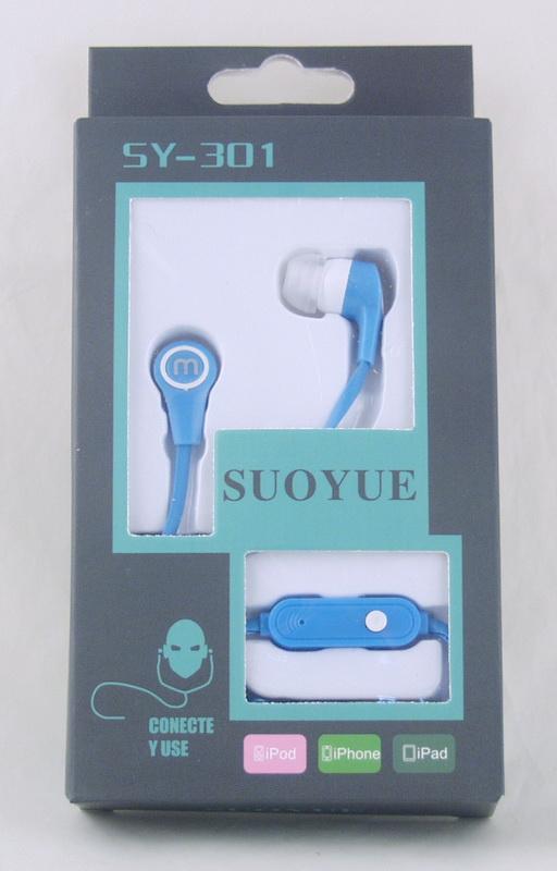 Наушники SY-301 вакуум.