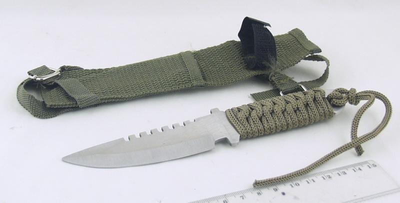 Нож А 13 мал. (зел. плетен. чехол)