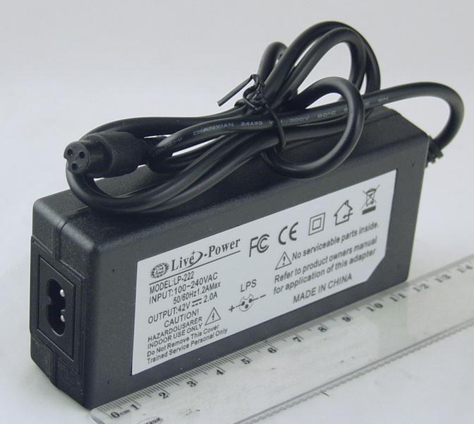 Блок питания (42V 2A) №4220 LP-222 (для гироскутера)