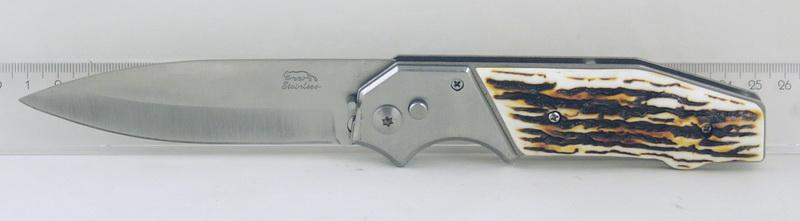 Нож 577 (AC577-65A) больш. кост. руч. выкидн. в чехле
