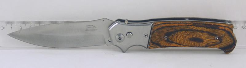 Нож 576 (AC576-65) больш. дерев. руч. выкидн. в чехле