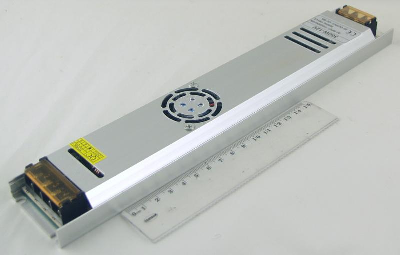 Блок питания для в/кам. (30A 12V) LX-360W длин. с вентилят.