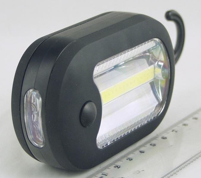 Фонарь светодиодный (1 больш. лампа, 3AAА) №8899B с магнитом ??