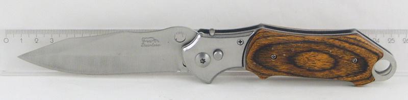 Нож 578 (A578A) больш. дерев. руч. выкидн. в чехле