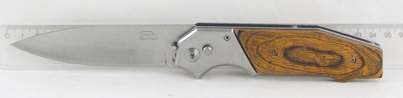 Нож 577 (A577A) больш. дерев. руч. выкидн. в чехле