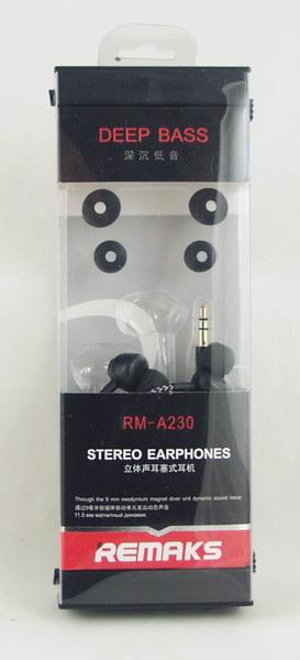 Наушники  с микроф. REMAX RM-A230 вакуум. в короб.