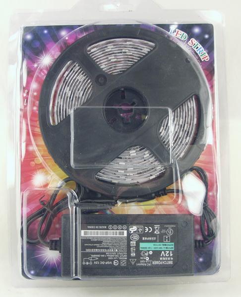 Светодиодная лента (разноцв.) №5050 RGB мигающая 5м
