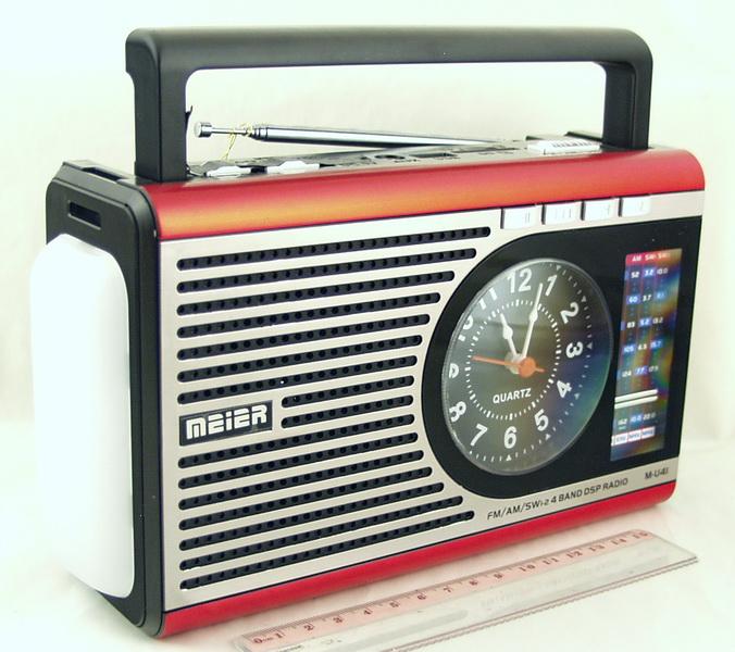M-U41 (FM,AM,SW1/2) сетев. SD, USB, фонарь,часы сетев./2R20/съемн. акк.