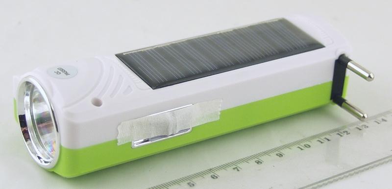 Фонарь светодиодный (1 больш., акк., солнечн. батар.)  YJ-1032T