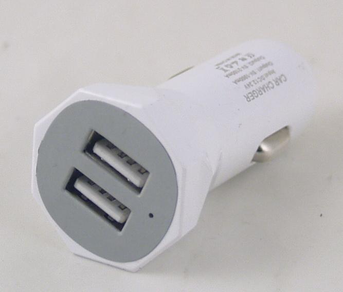 Блок питания для MP3 (2 USB,без шн.) 5V 2,1/1A прикур. №01 (AB-06) AFKA