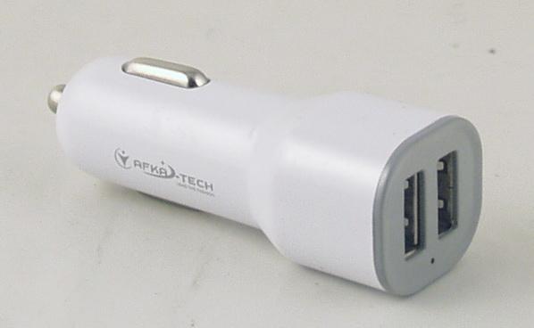 Блок питания для MP3 (2 USB,без шн.) 5V 2,1/1A прикур. №03 AFKA
