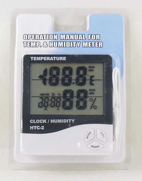 Термом. цифр. (внешний датчик) HTC-2 с гидрометром, часами
