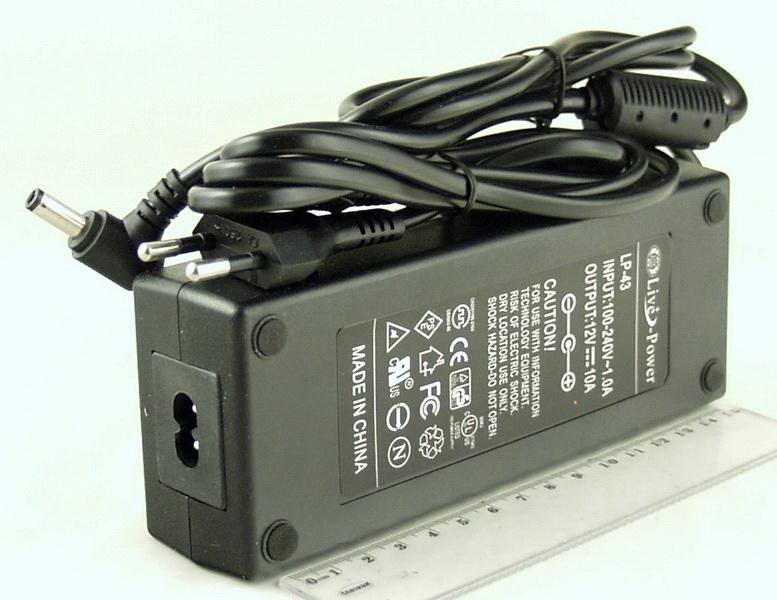 Блок питания для в/кам., DVD (10A 12V) LP-43 толст. шт. (5,5*2,5)